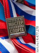 Купить «Знак кандидата в мастера спорта», фото № 4477278, снято 6 апреля 2013 г. (c) Момотюк Сергей / Фотобанк Лори