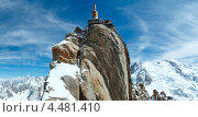 Купить «Верхняя станция подъемника на гору Aiguille du Midi, Франция», фото № 4481410, снято 20 июня 2019 г. (c) Юрий Брыкайло / Фотобанк Лори