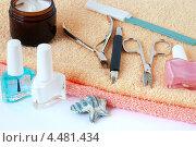 Купить «Набор для маникюра», фото № 4481434, снято 8 мая 2009 г. (c) Мирослава Безман / Фотобанк Лори