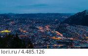 Купить «Наступает ночь. Берген, Норвегия», видеоролик № 4485126, снято 20 марта 2013 г. (c) Никита Майков / Фотобанк Лори