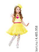 Купить «Девочка в желтом платье», фото № 4485958, снято 23 апреля 2012 г. (c) Сергей Сухоруков / Фотобанк Лори