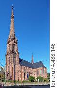 Купить «Церковь святого Бернарда в Карлсруэ, Германия», фото № 4488146, снято 16 сентября 2012 г. (c) Михаил Марковский / Фотобанк Лори
