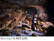 Дайвер в пещере. Стоковое фото, фотограф Кирилл Багрий / Фотобанк Лори