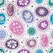 Бесшовный фон с разноцветными шарами и цветами в горошек, иллюстрация № 4489654 (c) Ольга Дроздова / Фотобанк Лори
