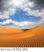Купить «Облачный пейзаж   пустыни», фото № 4502202, снято 28 ноября 2012 г. (c) Михаил Коханчиков / Фотобанк Лори