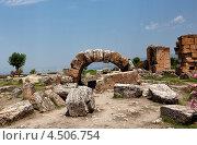 Развалины Иераполиса в Памуккале, Турция (2010 год). Стоковое фото, фотограф Кравченко Юлия / Фотобанк Лори