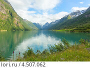 Живописный пейзаж норвежских фьордов (2012 год). Стоковое фото, фотограф Dmitry Burlakov / Фотобанк Лори