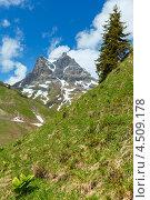 Альпийский горный пейзаж, регион Форарльберг, Австрия (2012 год). Стоковое фото, фотограф Юрий Брыкайло / Фотобанк Лори