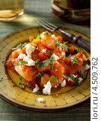 Купить «Салат с креветками и сыром фета, греческая кухня», фото № 4509762, снято 16 января 2019 г. (c) Food And Drink Photos / Фотобанк Лори