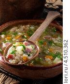 Купить «Овощной суп с киноа», фото № 4510362, снято 23 мая 2019 г. (c) Food And Drink Photos / Фотобанк Лори