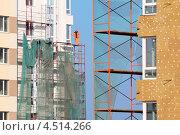 Купить «Строительство многоэтажных домов», фото № 4514266, снято 7 октября 2011 г. (c) Losevsky Pavel / Фотобанк Лори