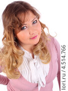 Купить «Портрет русоволосой девушки в розовой кофточке», фото № 4514766, снято 6 февраля 2012 г. (c) Losevsky Pavel / Фотобанк Лори
