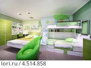 Купить «Интерьер зелёной детской комнаты», фото № 4514858, снято 21 ноября 2011 г. (c) Losevsky Pavel / Фотобанк Лори
