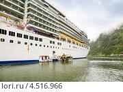 Купить «Борт лайнера Costa Luminosa в порту Гейрангер, Норвегия», фото № 4516966, снято 26 июля 2011 г. (c) Losevsky Pavel / Фотобанк Лори