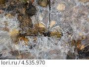Весенний лёд на камнях. Стоковое фото, фотограф Алексей Егоров / Фотобанк Лори