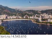 Купить «Пляж Ботафого и залив Гуанабара, Рио-де-Жанейро, Бразилия», фото № 4543610, снято 21 декабря 2012 г. (c) vale_t / Фотобанк Лори