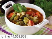 Купить «Запечённый постный суп», эксклюзивное фото № 4559938, снято 24 апреля 2013 г. (c) Александр Курлович / Фотобанк Лори