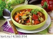Купить «Запечённый постный суп», эксклюзивное фото № 4560914, снято 24 апреля 2013 г. (c) Александр Курлович / Фотобанк Лори
