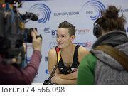 Купить «Marcel Nguyen, Германия дает интервью на Чемпионате Европы по спортивной гимнастике», фото № 4566098, снято 21 апреля 2013 г. (c) Stockphoto / Фотобанк Лори