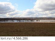 Затопленная пойма реки Оки весной (2013 год). Стоковое фото, фотограф Елена Блохина / Фотобанк Лори