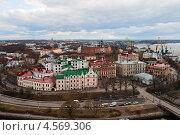 Купить «Выборг, вид сверху на старый город», фото № 4569306, снято 27 апреля 2013 г. (c) Юлия Бабкина / Фотобанк Лори