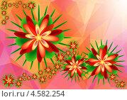 Абстрактный цветочный фон. Стоковая иллюстрация, иллюстратор Александр Лукьянов / Фотобанк Лори