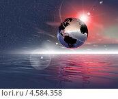 Купить «Фантастический пейзаж, планета Земля», иллюстрация № 4584358 (c) ElenArt / Фотобанк Лори