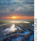 Утро над тайгой. Стоковое фото, фотограф Владимир Мельников / Фотобанк Лори