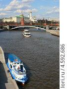 Купить «Водная прогулка по Москве-реке», фото № 4592686, снято 1 мая 2013 г. (c) Анна Павлова / Фотобанк Лори