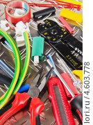 Оснастка для изготовления электросети крупным планом. Стоковое фото, фотограф Игорь Соколов / Фотобанк Лори