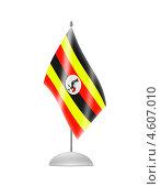 Купить «Флаг Уганды на настольном флагштоке», иллюстрация № 4607010 (c) Александр Макаров / Фотобанк Лори