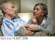 Купить «Пожилая женщина у кровати больного мужа», фото № 4607398, снято 19 апреля 2013 г. (c) CandyBox Images / Фотобанк Лори