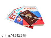 Купить «Сборники для подготовки к ЕГЭ, паспорт и гелевая ручка», эксклюзивное фото № 4612698, снято 12 мая 2013 г. (c) Наталья Осипова / Фотобанк Лори