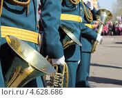 Купить «Духовые инструменты на параде», фото № 4628686, снято 9 мая 2013 г. (c) Копылова Ольга Васильевна / Фотобанк Лори