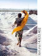 Купить «Сборщица соли на озере Sambhar, Раджастан, Индия», фото № 4633402, снято 19 ноября 2012 г. (c) photoff / Фотобанк Лори
