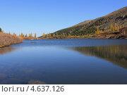 Горное озеро осенью (2011 год). Стоковое фото, фотограф Константин Нарыков / Фотобанк Лори