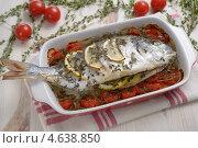 Купить «Запеченный дорадо с овощами», фото № 4638850, снято 28 сентября 2012 г. (c) Stockphoto / Фотобанк Лори
