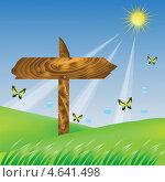 Купить «Стрелка на поляне с бабочками», иллюстрация № 4641498 (c) Valerii Stoika / Фотобанк Лори