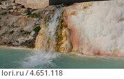 Купить «Минеральный водопад, Памуккале, Турция», видеоролик № 4651118, снято 20 мая 2013 г. (c) Михаил Коханчиков / Фотобанк Лори