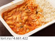 Замороженные рис с курицей. Стоковое фото, фотограф Максим Шебеко / Фотобанк Лори