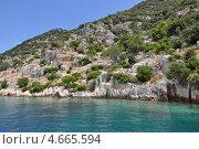 Средиземноморский пейзаж на побережье Турции. Стоковое фото, фотограф Овчинникова Татьяна / Фотобанк Лори
