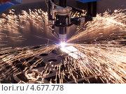 Купить «Промышленная машина для плазменной резки», фото № 4677778, снято 28 мая 2013 г. (c) Andrey Eremin / Фотобанк Лори