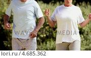 Купить «Mature couple running on the spot», видеоролик № 4685362, снято 10 декабря 2018 г. (c) Wavebreak Media / Фотобанк Лори