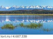 Красивый горный пейзаж с отражением. Стоковое фото, фотограф Виктория Катьянова / Фотобанк Лори