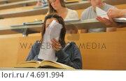 Купить «Student happy with test result», видеоролик № 4691994, снято 22 апреля 2019 г. (c) Wavebreak Media / Фотобанк Лори