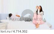 Купить «Elderly couple having an argument», видеоролик № 4714302, снято 26 марта 2019 г. (c) Wavebreak Media / Фотобанк Лори