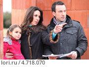 Купить «Семья на стройке», фото № 4718070, снято 21 января 2010 г. (c) Phovoir Images / Фотобанк Лори