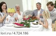 Купить «Happy Family Christmas times», видеоролик № 4724186, снято 27 июня 2019 г. (c) Wavebreak Media / Фотобанк Лори