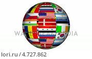 Купить «Globe With Flags», видеоролик № 4727862, снято 19 сентября 2018 г. (c) Wavebreak Media / Фотобанк Лори
