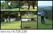 Golf Footage. Стоковое видео, агентство Wavebreak Media / Фотобанк Лори